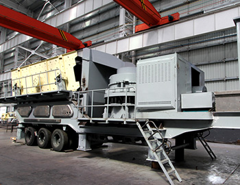 Mobile cone crushing and screening plant