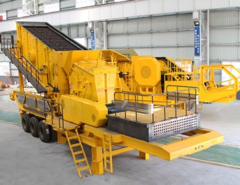 Wheel mobile impact crushing and screening plant